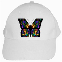 Abstract Animal Art Butterfly White Cap