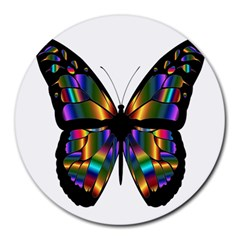 Abstract Animal Art Butterfly Round Mousepads