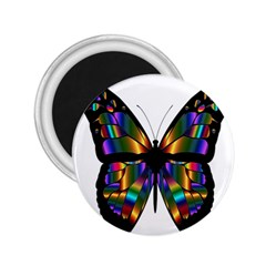 Abstract Animal Art Butterfly 2.25  Magnets