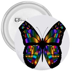 Abstract Animal Art Butterfly 3  Buttons