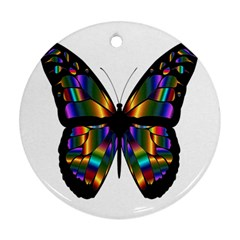Abstract Animal Art Butterfly Ornament (Round)