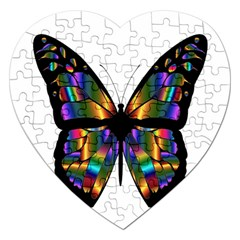 Abstract Animal Art Butterfly Jigsaw Puzzle (Heart)