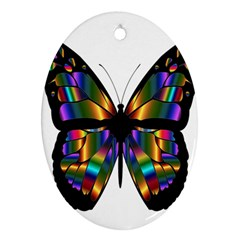Abstract Animal Art Butterfly Oval Ornament (Two Sides)