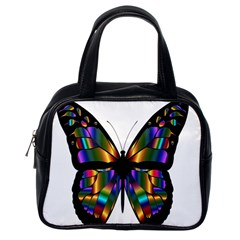 Abstract Animal Art Butterfly Classic Handbags (One Side)
