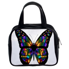 Abstract Animal Art Butterfly Classic Handbags (2 Sides)