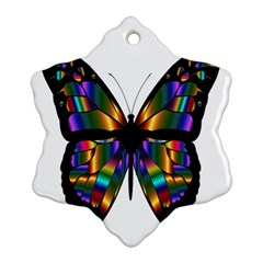 Abstract Animal Art Butterfly Ornament (Snowflake)