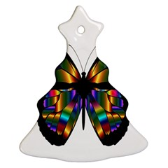 Abstract Animal Art Butterfly Ornament (Christmas Tree)