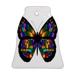 Abstract Animal Art Butterfly Bell Ornament (Two Sides)