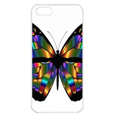 Abstract Animal Art Butterfly Apple iPhone 5 Seamless Case (White)