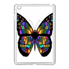 Abstract Animal Art Butterfly Apple iPad Mini Case (White)