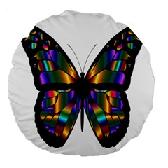 Abstract Animal Art Butterfly Large 18  Premium Round Cushions