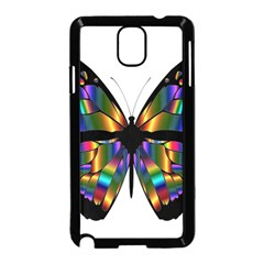 Abstract Animal Art Butterfly Samsung Galaxy Note 3 Neo Hardshell Case (Black)