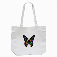 Abstract Animal Art Butterfly Tote Bag (White)