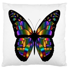 Abstract Animal Art Butterfly Standard Flano Cushion Case (Two Sides)