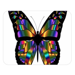Abstract Animal Art Butterfly Double Sided Flano Blanket (Large)