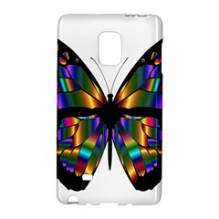 Abstract Animal Art Butterfly Galaxy Note Edge