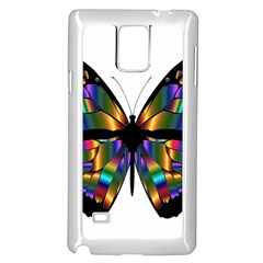 Abstract Animal Art Butterfly Samsung Galaxy Note 4 Case (White)