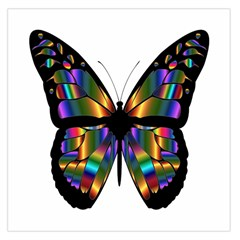 Abstract Animal Art Butterfly Large Satin Scarf (Square)