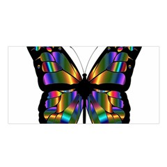 Abstract Animal Art Butterfly Satin Shawl