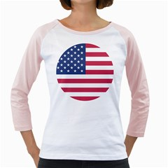 American Flag Girly Raglans