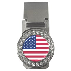 American Flag Money Clips (CZ)