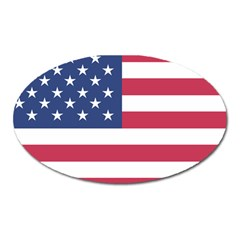 American Flag Oval Magnet
