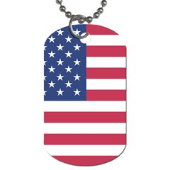 American Flag Dog Tag (Two Sides)