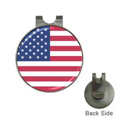 American Flag Hat Clips with Golf Markers