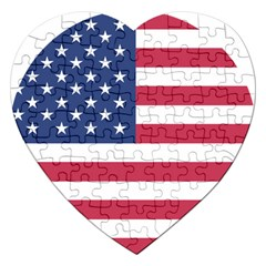 American Flag Jigsaw Puzzle (Heart)