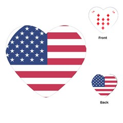 American Flag Playing Cards (Heart)