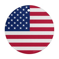 American Flag Round Ornament (Two Sides)
