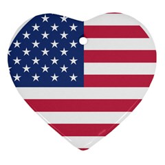 American Flag Heart Ornament (Two Sides)