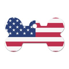 American Flag Dog Tag Bone (One Side)
