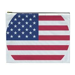 American Flag Cosmetic Bag (XL)