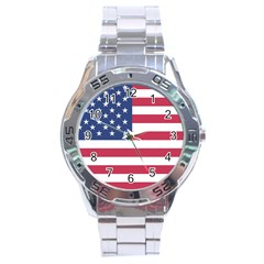 American Flag Stainless Steel Analogue Watch