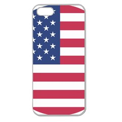 American Flag Apple Seamless iPhone 5 Case (Clear)