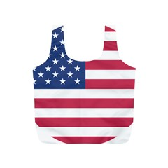 American Flag Full Print Recycle Bags (S)