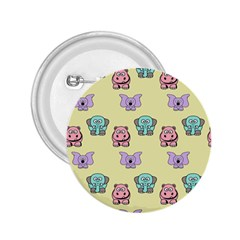 Animals Pastel Children Colorful 2.25  Buttons
