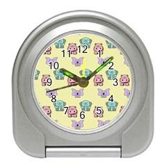 Animals Pastel Children Colorful Travel Alarm Clocks