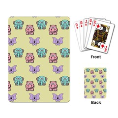 Animals Pastel Children Colorful Playing Card