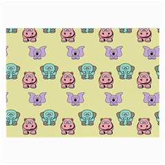 Animals Pastel Children Colorful Large Glasses Cloth (2-Side)