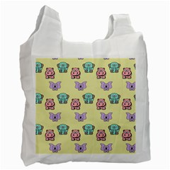 Animals Pastel Children Colorful Recycle Bag (One Side)