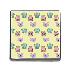 Animals Pastel Children Colorful Memory Card Reader (Square)