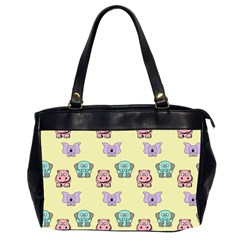 Animals Pastel Children Colorful Office Handbags (2 Sides)