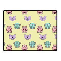Animals Pastel Children Colorful Fleece Blanket (Small)