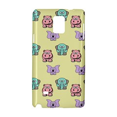 Animals Pastel Children Colorful Samsung Galaxy Note 4 Hardshell Case