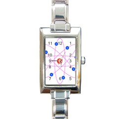Atom Model Vector Clipart Rectangle Italian Charm Watch