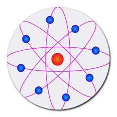 Atom Model Vector Clipart Round Mousepads