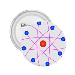 Atom Model Vector Clipart 2.25  Buttons