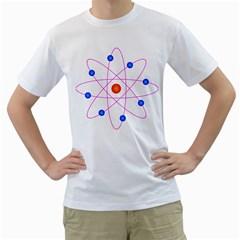 Atom Model Vector Clipart Men s T-Shirt (White) (Two Sided)